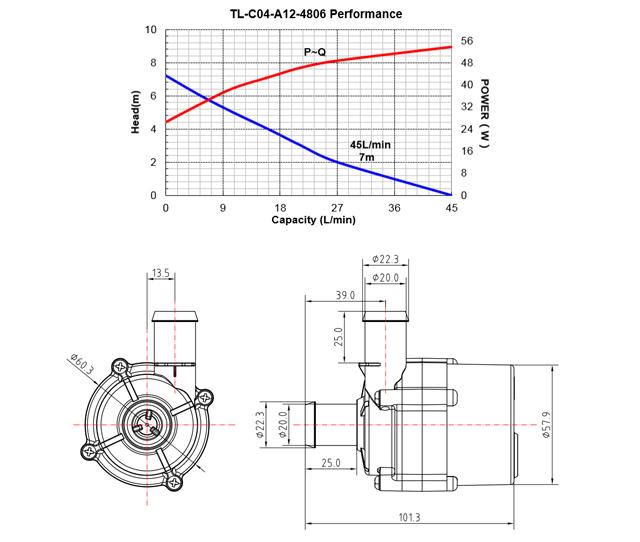 零水压智能马桶水泵_尺寸图